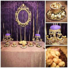 This was my daughter's princess party. We already had several things in purple and gold, so we went with a regal princess theme to keep costs down. Royal Theme Party, Lila Party, Festa Party, My Princess, Baby Shower Princess, Princess Birthday, Birthday Party Design, Gold Birthday, Birthday Parties