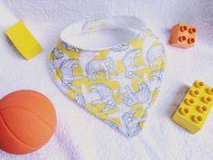 Dribble Bibs, Bandana Bib, Baby Bibs, Elephants, Grey And White, My Etsy Shop, Yellow, Trending Outfits, Unique Jewelry