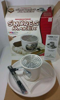 Casa Moda Maker Smore's & More Ceramic Tray Fondue Set Complete New In Box #CasaModa