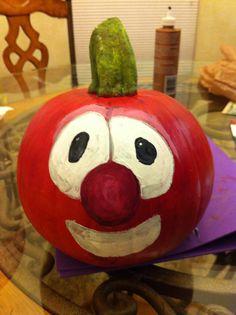 Veggie Tale Painted Pumpkin
