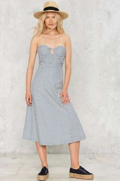 Via Marina Strapless Midi Dress - Sale: Clothes