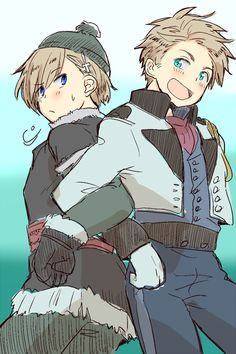 Is Denmark wearing the outfit Hans wore in Frozen and Norway wearing Kristoff's outfit or am I just tripin? Denmark Hetalia, Norway Hetalia, Nordics Hetalia, Frozen Hans, World History Facts, Western Anime, Dennor, Scandinavian Countries, You Draw