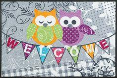 wash + dry 068754 Fußmatte Welcome Owls, 50 x 75 cm