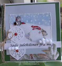 Fasters korthus: house mouse christmas card 3