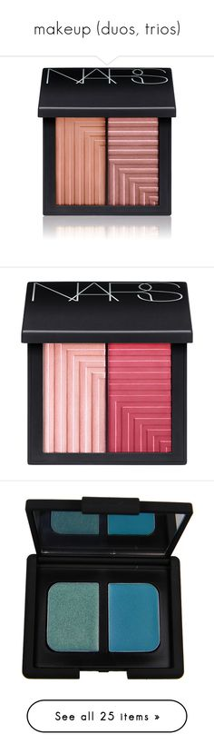 """""""makeup (duos, trios)"""" by alypusateri ❤ liked on Polyvore featuring beauty products, makeup, cheek makeup, blush, beauty, cosmetics, colorless, nars cosmetics, filler and nars"""