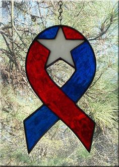 Red White & Blue Star Ribbon