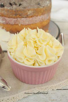 krem maślany z mlekiem skondensowanym | Domowy Smak Jedzenia .pl No Bake Desserts, Icing, Pudding, Food, Cream, Birch Bark, Kitchens, Custard Pudding, Essen