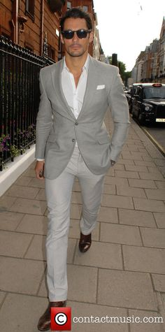 Men's street fashion | David Gandy | LCM Spring/Summer 2015: The Rake Magazine and Claridge's Party