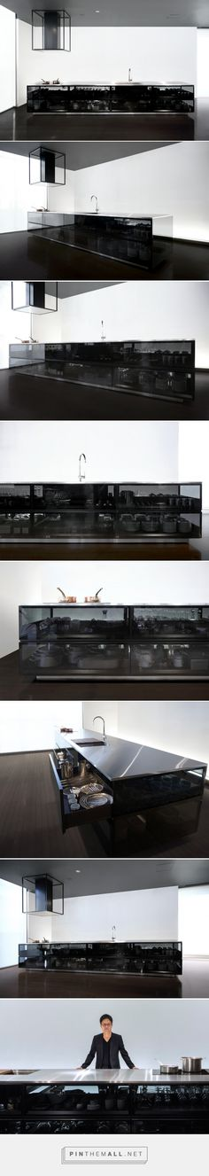 tokujin yoshioka finesses transparent cookspace for toyo kitchen style - created via http://pinthemall.net
