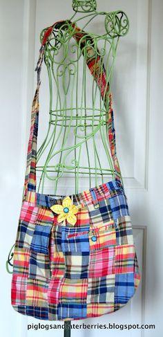 DIY pants to bag