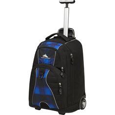 High Sierra Freewheel Wheeled Backpack, Black/Blue Buffalo