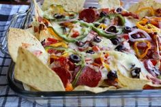Pepperoni Pizza Supreme Nachos