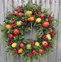 Christmas Wreath Williamsburg Style Christmas di HornsHandmade