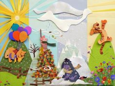 Winnie the Poo paper cutout #adorable   #tigger #eeyore