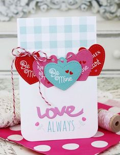 Love Always Card by Melissa Phillips for Papertrey Ink (December 2015)