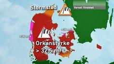 Et særdeles kraftigt blæsevejr - der udvikler sig til en storm - er på vej mod landet fra vest. Stormen har fået navnet 'Gorm' og kommer til at berøre store dele af landet fra i aften og indtil midt på natten. Søndag 29.11.15 (pinnet 17:00)