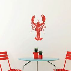 Lobster-pillow-beach-design-stencil.  Makes a really cute design for a pillow, especially when combined with the anchor stencil.  Cute!