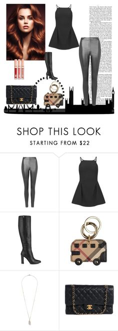 """""""Untitled #10343"""" by nathsouzaz ❤ liked on Polyvore featuring Nicki Minaj, Topshop, Jimmy Choo, Burberry and Chanel"""