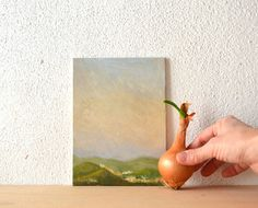 I like my landscape with a little onion!  Painting of Italian Landscape made in Italy by BarraganPaintings, €65.00