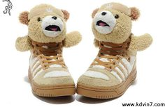 Adidas X Jeremy Scott Teddy Bear Shoes Brown Casual shoes Store