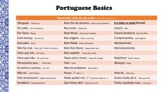 PORTUGUESE BASICS: everything you need to get started