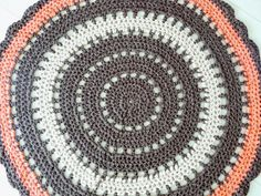 Crochet round rug/ boho rug/ giant lacy rug/ by WildFlowersCrochet
