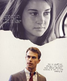 Theo James Shailene Woodley: Divergent Official Casting: Tobias Tris perspectives - Love this! Just read Tris' quote today. Divergent Hunger Games, Divergent Fandom, Divergent Trilogy, Divergent Insurgent Allegiant, Divergent Quotes, Insurgent Quotes, Divergent Dauntless, Erudite, Theo James
