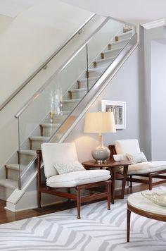 Indoor Glass Ballisters Interior Glass Railings Home