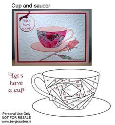 Irisvouwen: Cup and Saucer