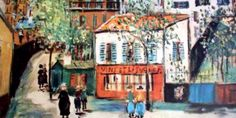 MAURICE UTRILLO (1883/1955), FRENCH PAINTER: Urban landscapes of a son of art, born and raised in Montmartre   Meeting Benches
