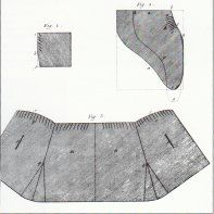 Mid-18th-early 19th century Cloaks - diagrams, descriptions, cutting patterns, sewing info, also a mitt pattern.