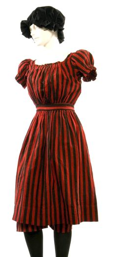 Bathing suit ca. 1888. Flannel, two pieces (dress and bloomers). Missouri History Museum