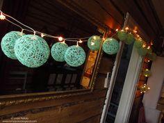 DIY ball lights made with cotton yarn Romppala - kotoilua ja puutarhanhoitoa: Tee itse pallovalot
