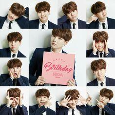 @BTS_official twt ~ [#슈가생일ㅊㅋ] 0309 〜경설탕절축〜 365일중가장달콤한날 #슈가민윤지AgustD #민피디천재짱짱맨뿡뿡 ~ Happy Birthday Yoongi! ❤