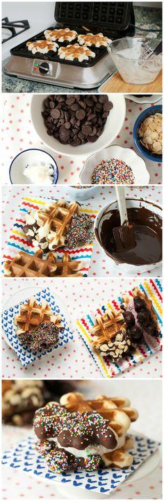 Ice Cream Waffle Sammies