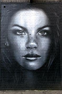 Amazing mural by Christina Angelina Graffiti Girl, Best Graffiti, Graffiti Murals, Murals Street Art, 3d Street Art, Street Art Graffiti, Street Artists, Art Deco, Amazing Street Art