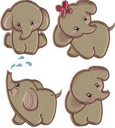 Applique - Elephants on Pinterest | 39 Pins