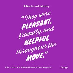 Thank you for taking the time to share your experience with us. www.noahsarkinc.com #CommercialMovers #StamfordCT #Movers #StamfordMovers #ConnecticutMovers #NYMovers #NYCMovers #CommercialMovingCompany #StamfordMovingCompany #StorageMovingCompany #StorageinNYC #StorageCompany #CTMovers