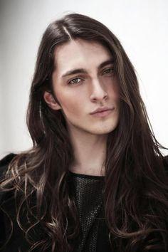 Brazilian male model Gabriel Bin (guys, long hair)