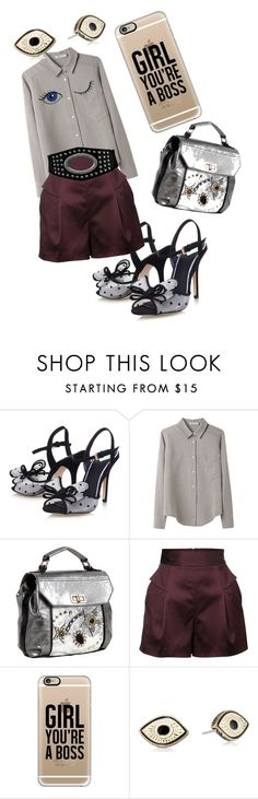 """Boss"" by bromaxx ❤ liked on Polyvore featuring Miss KG, T By Alexander Wang, Nicole Lee, French Connection, Casetify and Steve Madden"