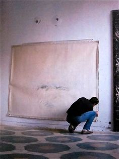 "Cy Twombly ""I work in waves, because I'm impatient."""