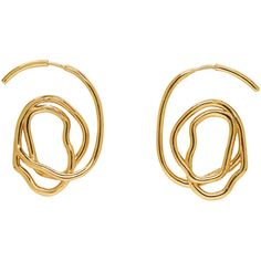 Ellery Gold Memphis Earrings (€325) ❤ liked on Polyvore featuring jewelry, earrings, gold, gold colored earrings, yellow gold jewelry, gold jewelry, e l l e r y and gold earrings