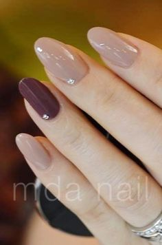 I like the length, shape, and he jewel on these nails. I would do one color only, though.