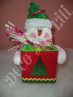 dulcerito muñeco de nieve
