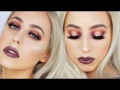 Tarte Tarteist Pro Palette Makeup Tutorial   Purple Gold Halo Eye - YouTube
