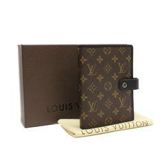 Louis Vuitton Agenda MM Monogram Macassar Other Brown Canvas R21084