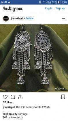 Amethyst And Silver Bracelet Antique Jewellery Designs, Fancy Jewellery, Handmade Jewelry Designs, Stylish Jewelry, Indian Jewelry Earrings, Silver Jewellery Indian, Silver Jewelry, Silver Earrings, Silver Ring