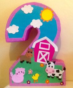 Farm pinata. Farm Girl pinata. Barn pinata. Animal by aldimyshop