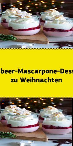 Raspberry mascarpone dessert for Christmas - Weihnachten Healthy Desserts, Fun Desserts, Delicious Desserts, Mothers Day Desserts, Sweet Peanuts, Pumpkin Cake Recipes, Pecan Cake, Dessert Blog, Spice Cookies