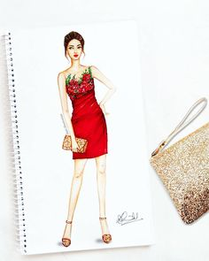 Image may contain: 1 person Dress Design Sketches, Fashion Design Drawings, Fashion Sketches, Fashion Drawing Dresses, Fashion Illustration Dresses, Fashion Sketchbook, Gharara Designs, Fashion Artwork, Cocktail Wear